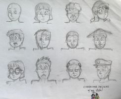 Character Designs w/ My Style by SammfeatBlueheart