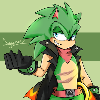 Scourge the Hedgehog (Color) by TheDarkShadow1990