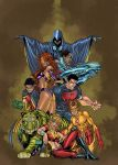 Teen Titans colored by Javilaparra