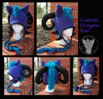 Custom Hat Commission: Purple Dragon by TheCrochetDragon