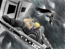 Final Fantasy 7 Cloud vs Sephiroth by Heartless199