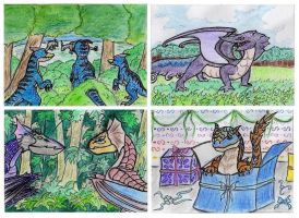 Monster Hunter ACEO Cards by Azzurgil