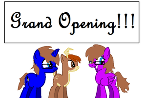 Group Grand opening! by CreshendoCanine