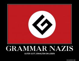 Grammar Nazis Motivational Poster by slyboyseth