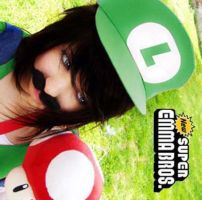 Self-portrait - Luigi by Emma-in-candyland