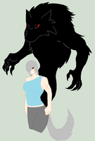 WereWolf OC Human Form by RaindropLily