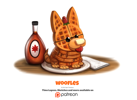 Daily 1354. Woofles by Cryptid-Creations