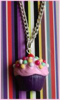 Sprinkle cupcake necklace 2 by citruscouture