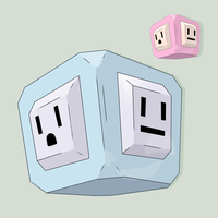 Fakemon Emoticube by mssingno