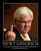 Newt Gingrich Motivational Poster by DaVinci41