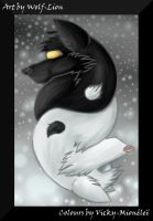 Ying Yang wolves for Wolf-Lion by Vicky-Mionelei
