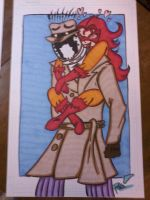Firestar and Rorschach Commission Numba 2 by XxPohGoxX