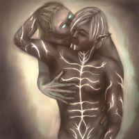 Dragon Age: Anders x Fenris by LynxSphinx