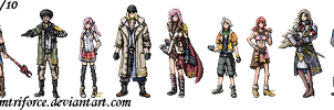 Final Fantasy XIII Sprites by KingdomTriforce
