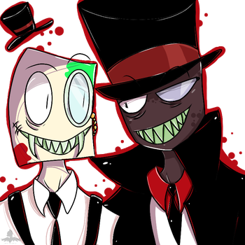 Black Hat and my oc Fear by ticcitobiartone