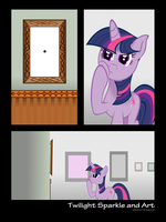 Twilight Sparkle and Art by flamevulture17