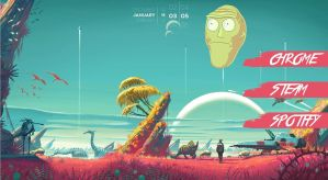 No Man's Sky (RickMorty) Skin 0.0.1 by wannabegraphicartist