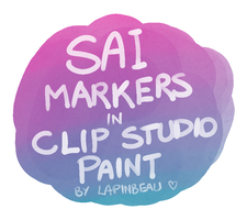 *ACTUAL* SAI Marker Tool for Clip Studio Paint by lapinbeau