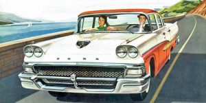 age of chrome and fins : 1958 Ford by Peterhoff3