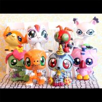 Digimon Adventures main characters as LPS customs by pia-chu