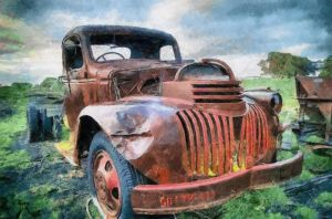 Old Chevy Pickup by RHuggs