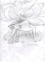 Nine-Tailed Demon Fox by LilMissMia