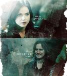 Regina and Rumpel by g0thicRomance