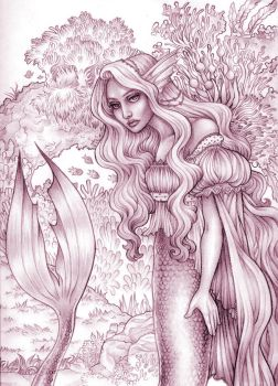 mermaid sketch by CourtneyTrowbridge