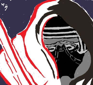 Kylo Ren Paint by Ma5nake