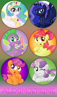 MLP Buttons batch 2 by AleximusPrime