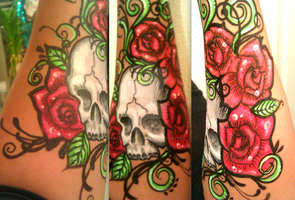 skull and roses points of view... by ARTSIE-FARTSIE-PAINT