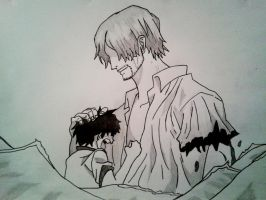 Shanks and Luffy by Jbgombert