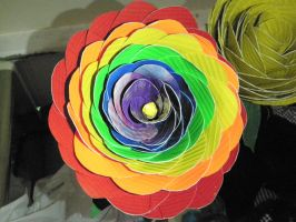 Rainbow Duct tape rose by melie97