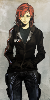Casual Shepard by Arlmuffin