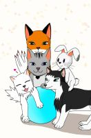 Bundle of friends by TOM-CATS