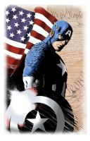 Captain America quick colors by KenHunt