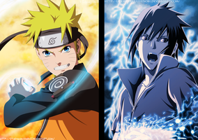Naruto And Sasuke Collab Lider Alianza Shinobi by IITheYahikoDarkII
