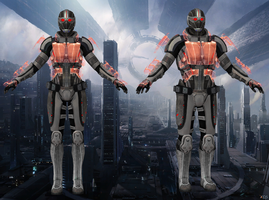 Sentinel from Mass Effect 3 for XNALara by Melllin