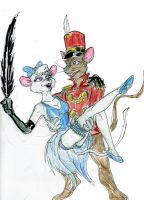 Timothy Q. Mouse and Miss Kitty by theaven