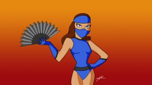 Kitana Bruce Timm style by THW1138