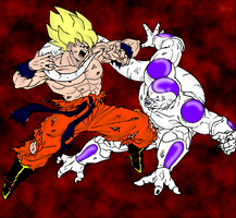 goku vs frieza by thelucasrbp