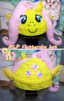 MLP Fluttershy cosplay fan hat by Rainbowbubbles