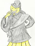 AC: Koro Sensei Cosplay Undertaker by crazedperson