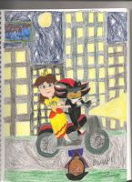 Shadow and Daisy in a city by daisyplayer1