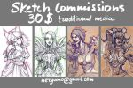 Sketch Commissions Open by ryumo