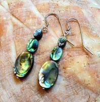 Abalone Earrings by FaerieForgeDesign