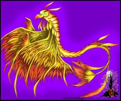 Golden Dragonhawk by Manasurge