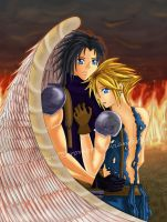 FFVII: Zack x Cloud by bubblefairy03
