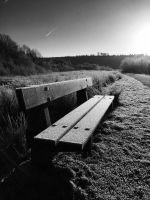 Frosty Bench in Wales by samorbell