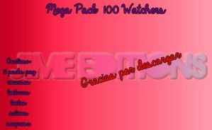 Mega Pack 100 watchers by MySweetWorld10